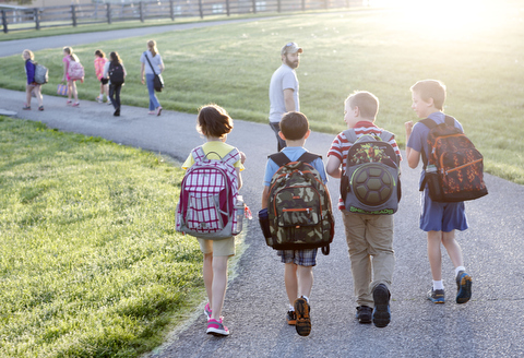 picture of students walking